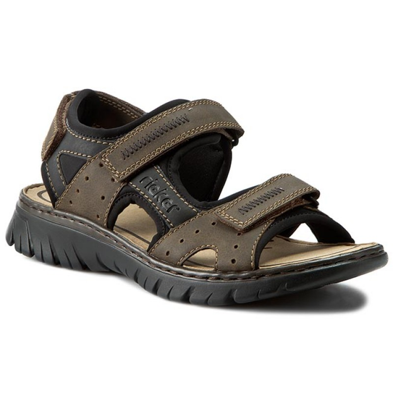 Sandalen RIEKER-26757-25 Brown Combination