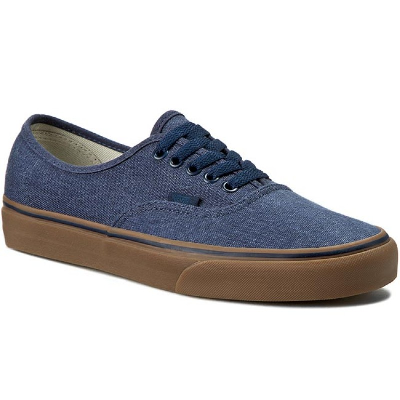 Turnschuhe VANS-Authentic VN0004MKIL6 (Washed Canvas) Drs Bls/Gm