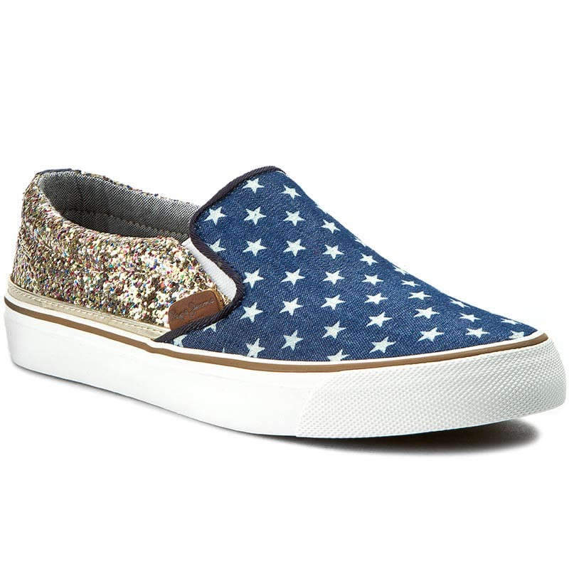 Turnschuhe PEPE JEANS-Alford Party Stars PLS30278 Sailor 580