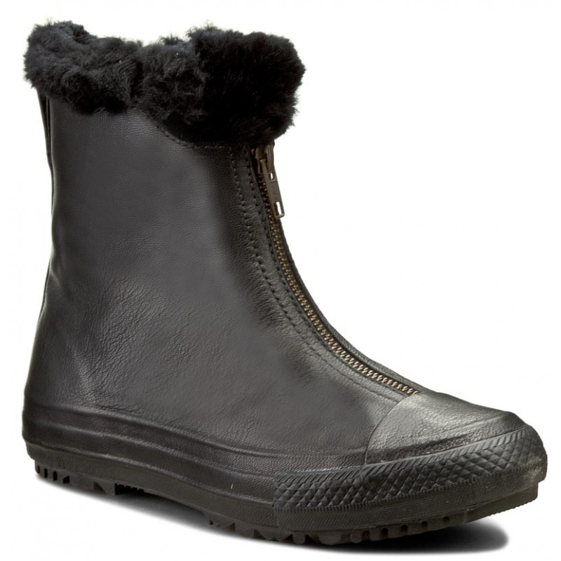 Stiefeletten CONVERSE-Ctas Boot Shroud Leather+Fur X 553350C  Black/Black/Black