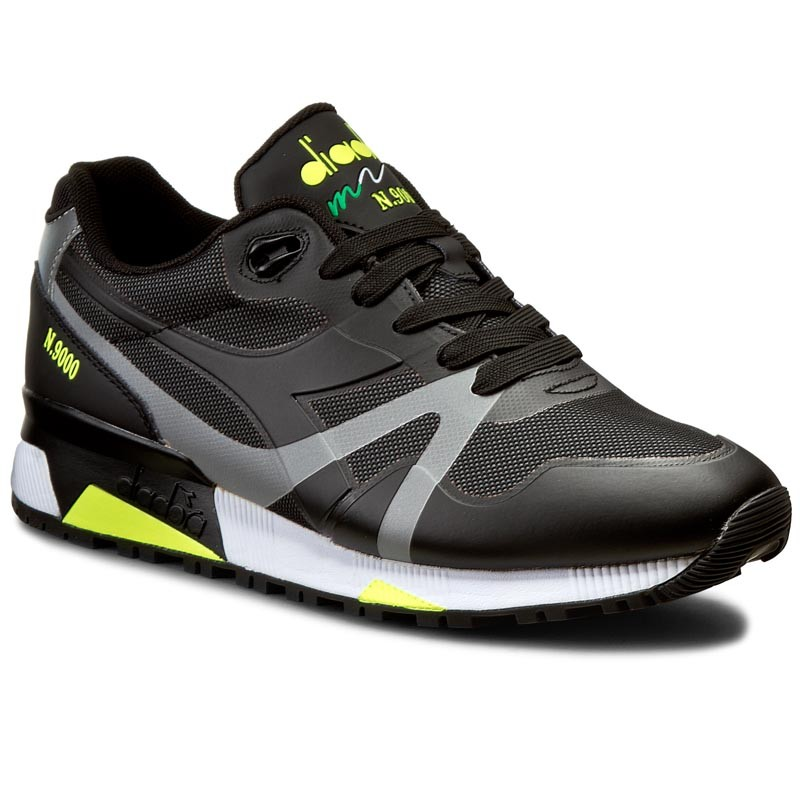 Sneakers DIADORA-N9000 Bright Protection 501171102 01 C6305 Black/Yellow Fluo