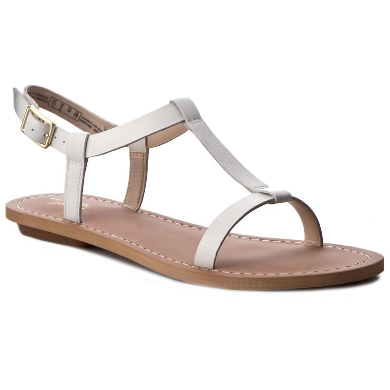 Sandalen CLARKS-Voyage Hop 261241244 White Leather