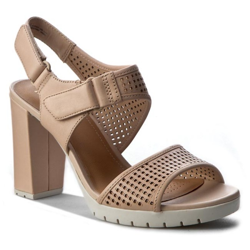 Sandalen CLARKS-Pastina Estate 261253584 Nude Leather