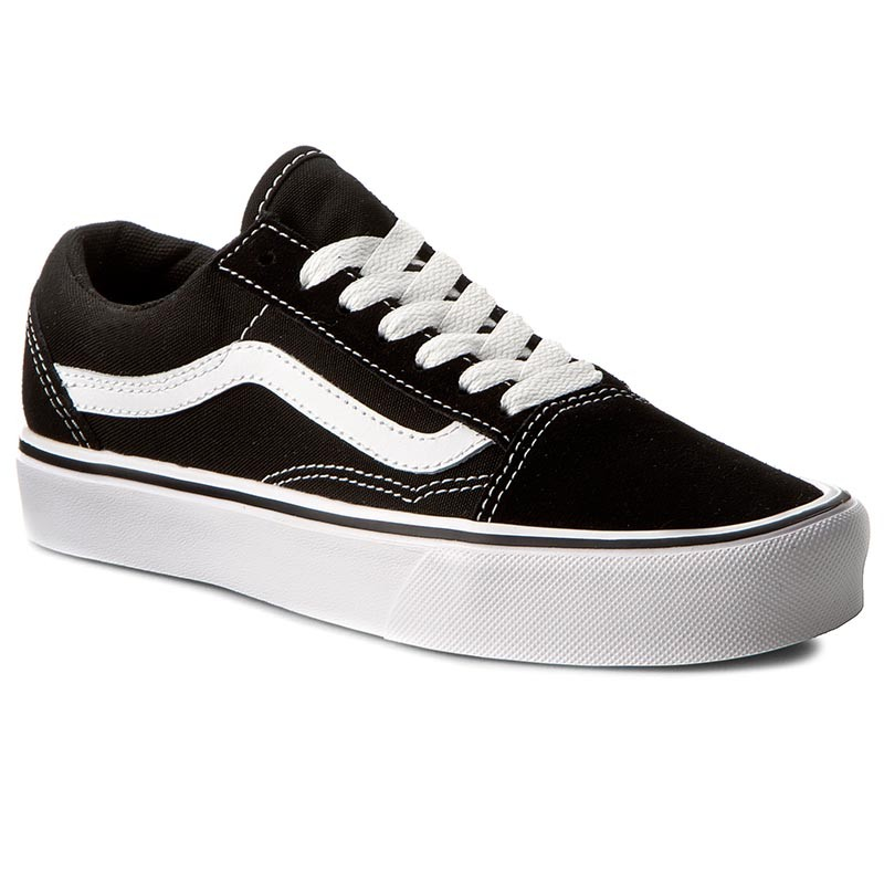 Turnschuhe VANS-Old Skool Lite VN0S2X5WIJU (Suede/Canvas) Black/White