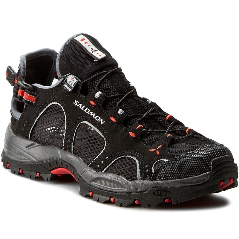 Trekkingschuhe SALOMON-Techamphibian 3 W 128490 20 M0 Black/Dark Cloud/Papaya
