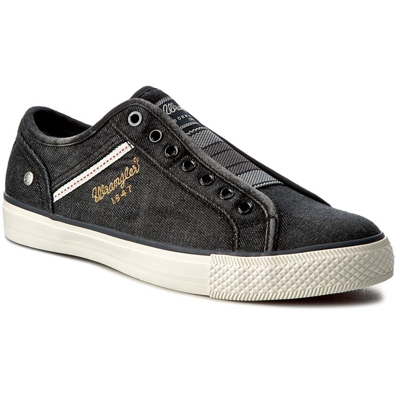 Turnschuhe WRANGLER-Starry Slip On Denim WF085267E Black/Denim 337