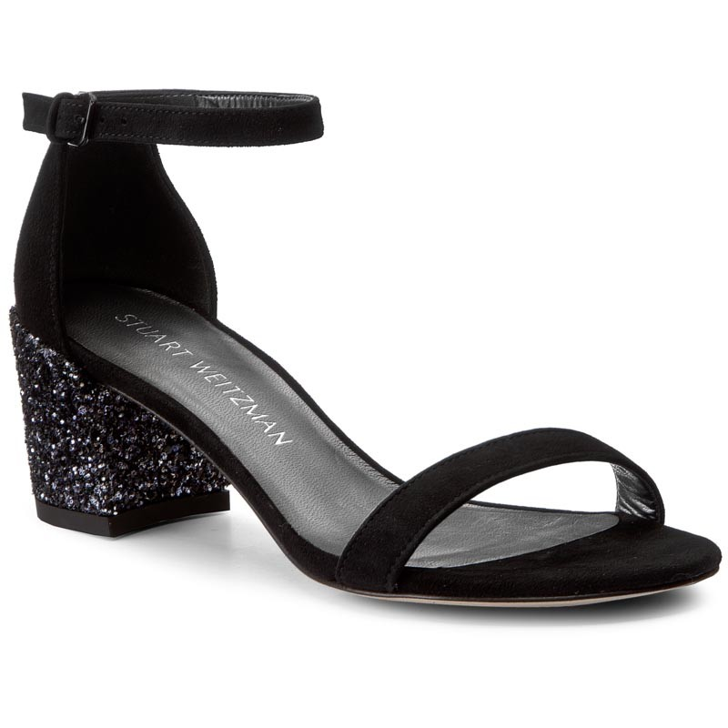 Sandalen STUART WEITZMAN-Simple Black Suede