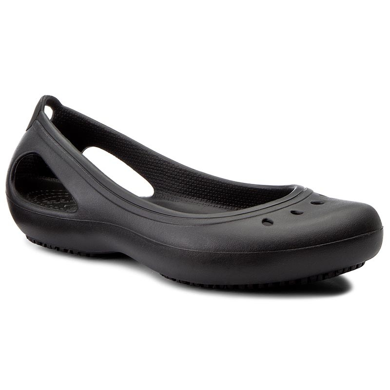 Ballerinas CROCS-Kadee Work Flat W 200941 Black