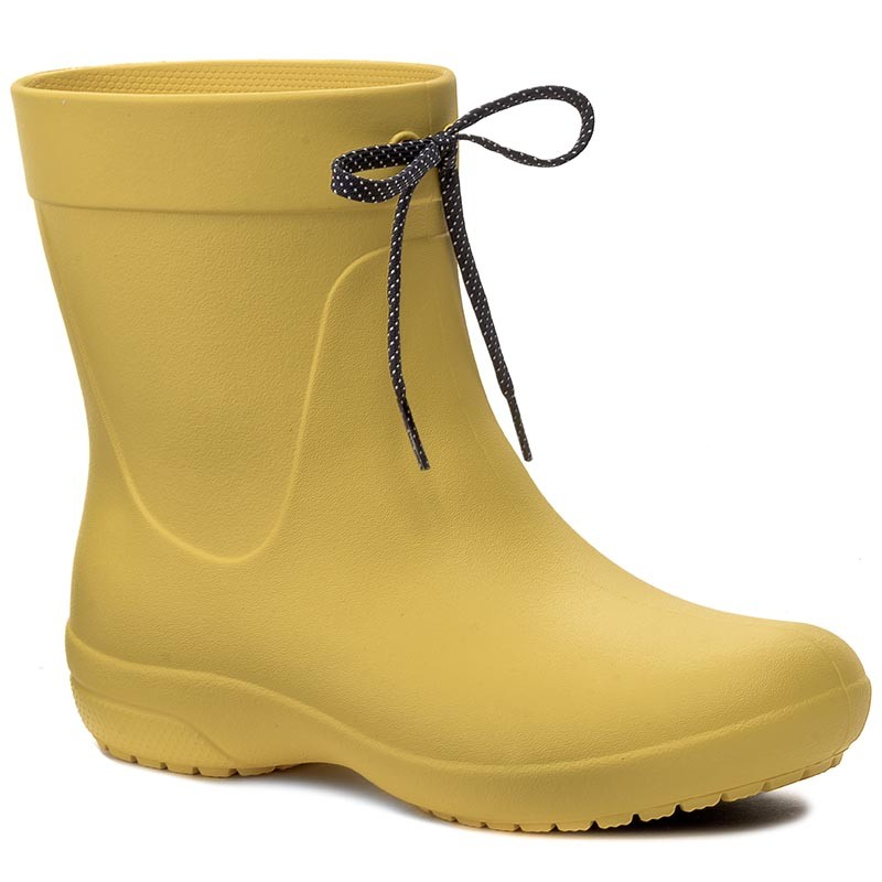 Gummistiefel CROCS-Freesail Shorty Rainboot 203851 Lemon