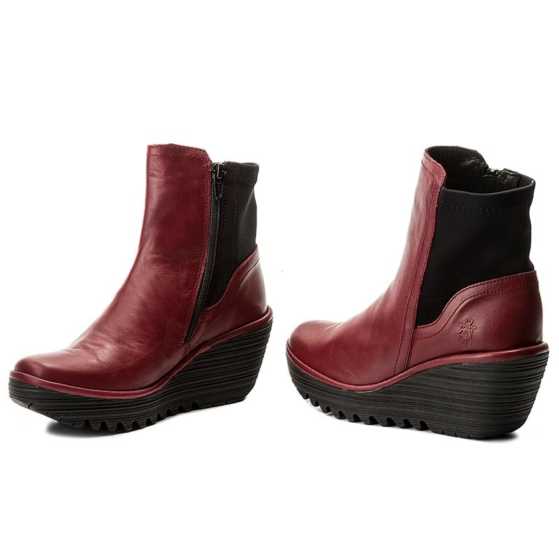 Stiefeletten FLY LONDON-Yuanfly P500752002 Cordoba Red (Blk)