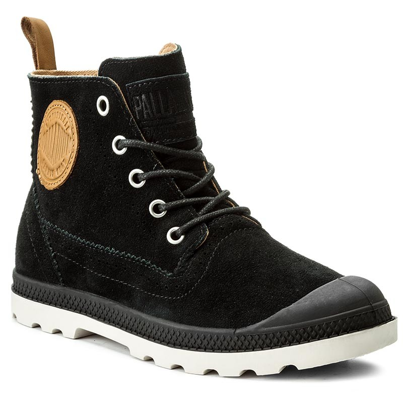 Trapperschuhe PALLADIUM-Pampa Ldn Lp Mid Sue 95560-013-M Black/Cuero