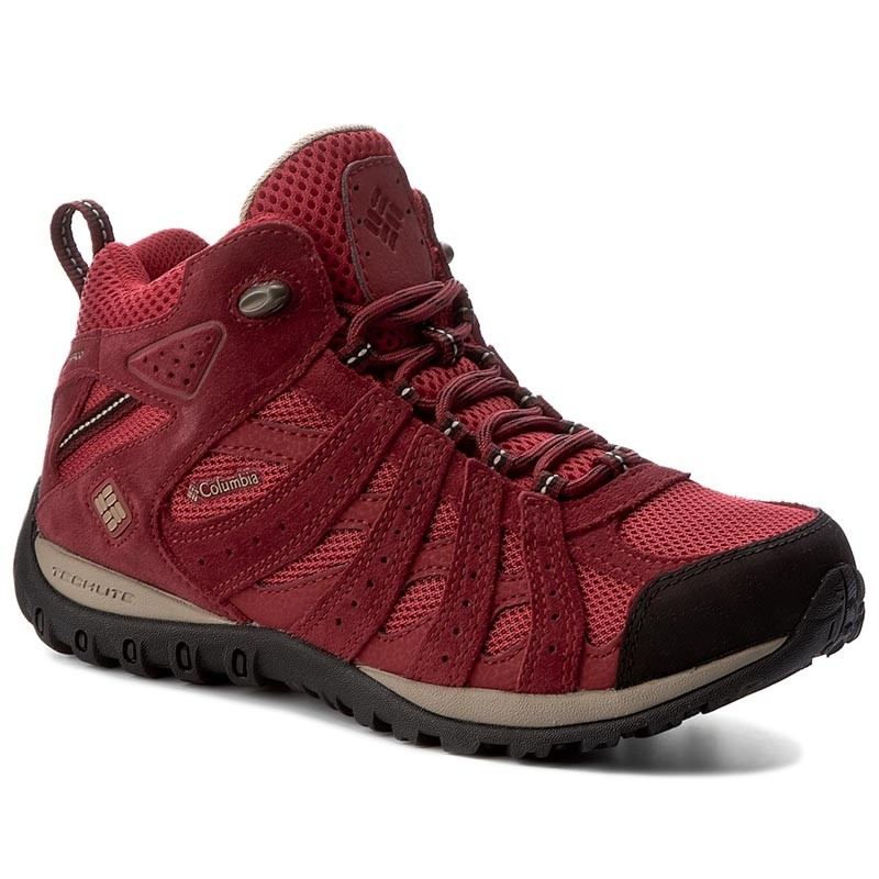 Trekkingschuhe COLUMBIA-Redmond Mid Waterproof BL3946  Red Velvet/Offord Tan 678
