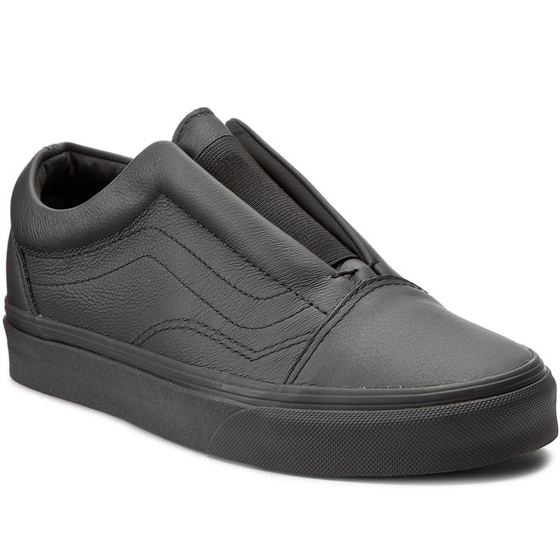 Turnschuhe VANS-Old Skool Laceles VN0A3DPCL3A (Leather) Black