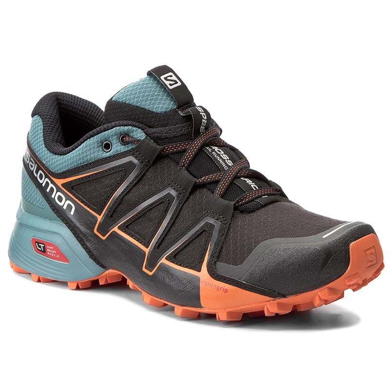 Schuhe 27 SALOMON-Speedcross Vario 2 398415 27 Schuhe V0 Black/North Atlantic/Scarlet Ibis bdc60c
