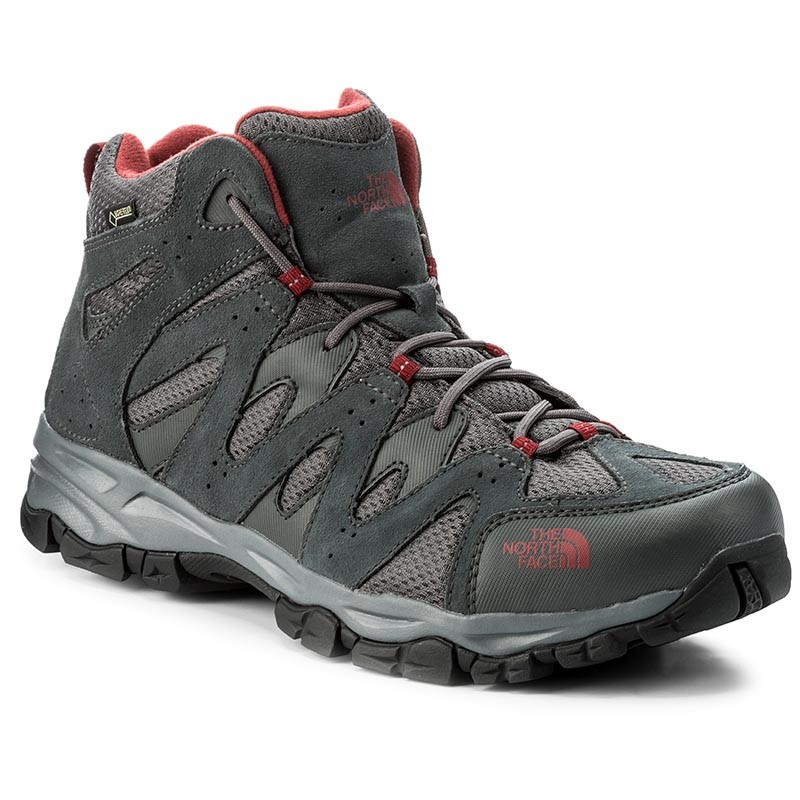 Trekkingschuhe THE NORTH FACE-Storm Hike Mid Gtx (Eu) GORE-TEX T939VYTCP Dark Shadow Grey/Rudy Red