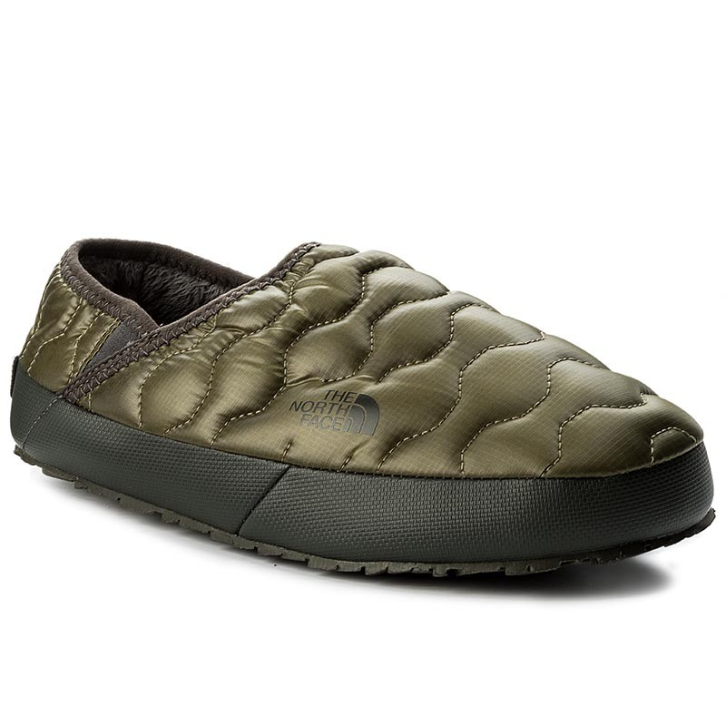 Hausschuhe THE NORTH FACE-Thermoball Traction Mule IV T9331EZFP Shiny Burnt Olive Green/Black Ink Green