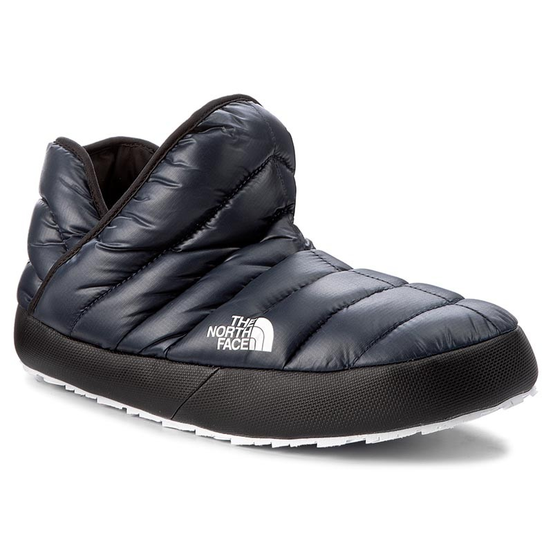 Hausschuhe THE NORTH FACE-Thermoball Traction Bootie T93MKHYXE Shiny Urban Navy/Tnf White