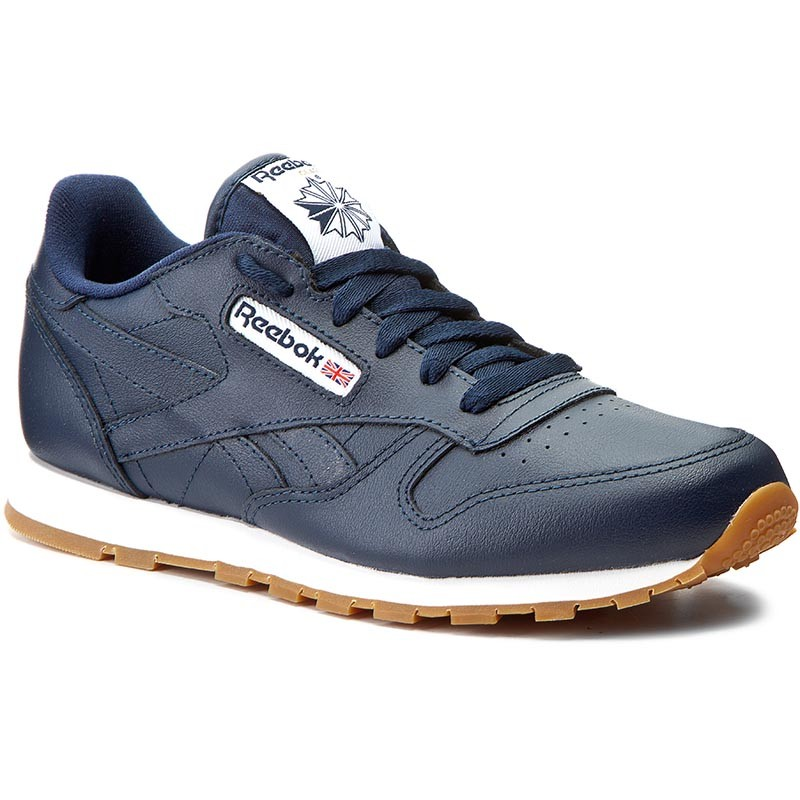 Schuhe Reebok-Classic Leather Gum AR1312  Collegiate Navy/Gum
