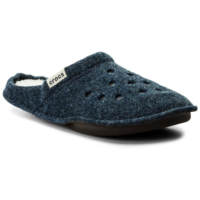 Hausschuhe CROCS-Classic Slipper 203600 Nautical Navy/Oatmeal