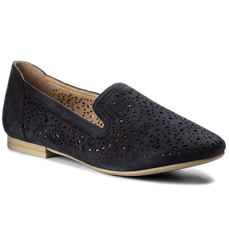 Lords Schuhe CAPRICE-9-24501-20 Navy Suede 816