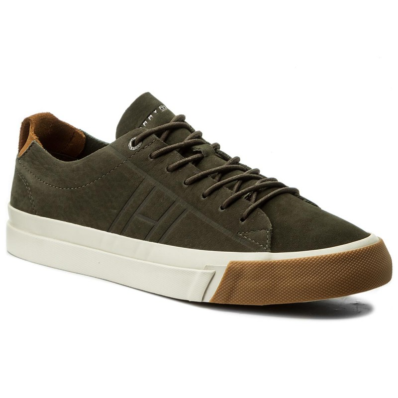 Sneakers TOMMY HILFIGER-Dino 1N FM0FM01215 Olive Night 010