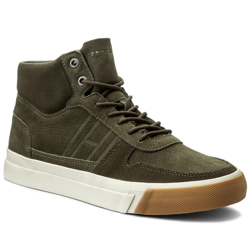 Sneakers TOMMY HILFIGER-Dino 2N FM0FM01444 Olive Night 010