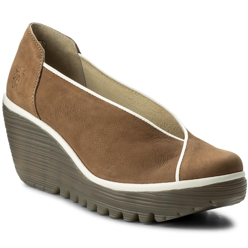 Halbschuhe FLY LONDON-Yucafly P500839001 Sand/Offwhite