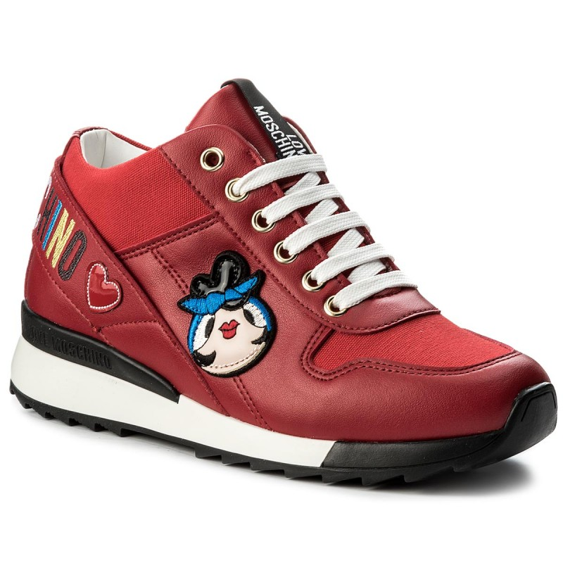 Sneakers LOVE MOSCHINO-JA15084G15IE0500  Rosso
