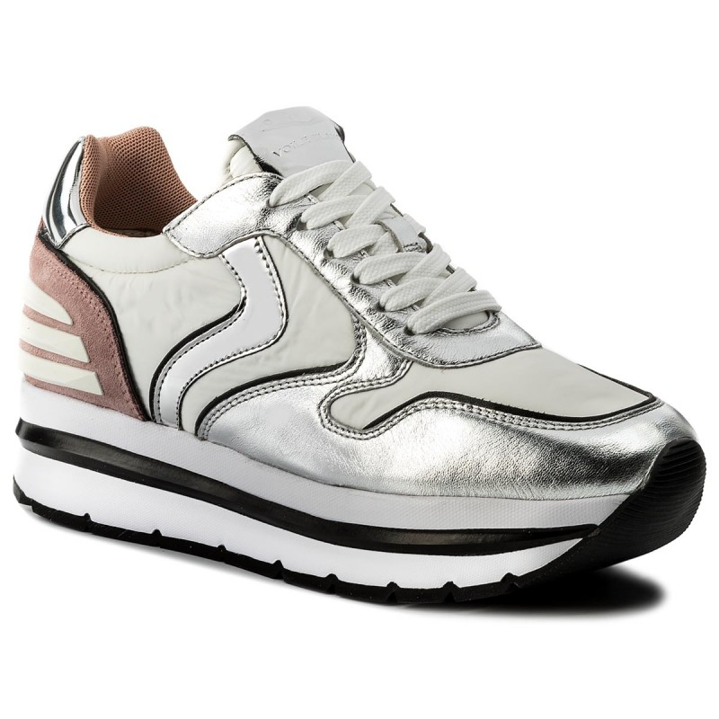 Sneakers VOILE BLANCHE-May Power 0012012434049132 Argento/Bianco/Pesca