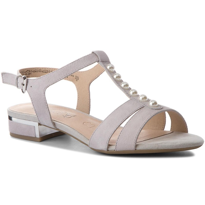 Sandalen CAPRICE-9-28104-20 Ly Grey Suede 201