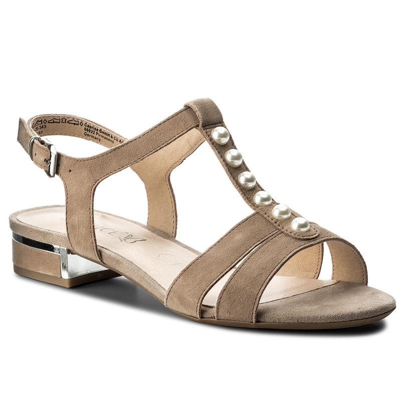 Sandalen CAPRICE-9-28104-20 Taupe Suede 343