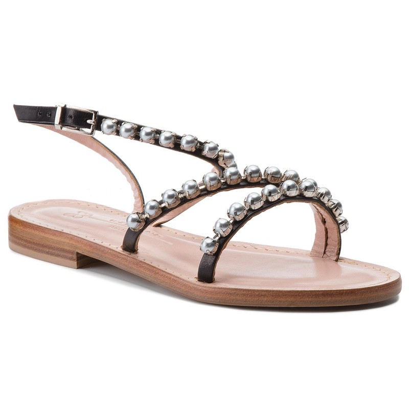Sandalen WEEKEND MAXMARA-Sublime 55212384600 Nero/Perle Scure 002