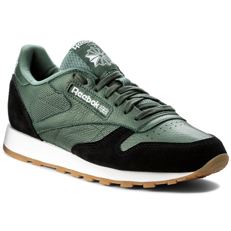 Schuhe Reebok-Cl Leather Gi BS9746 Chalk Green/Black/Wht/Gum