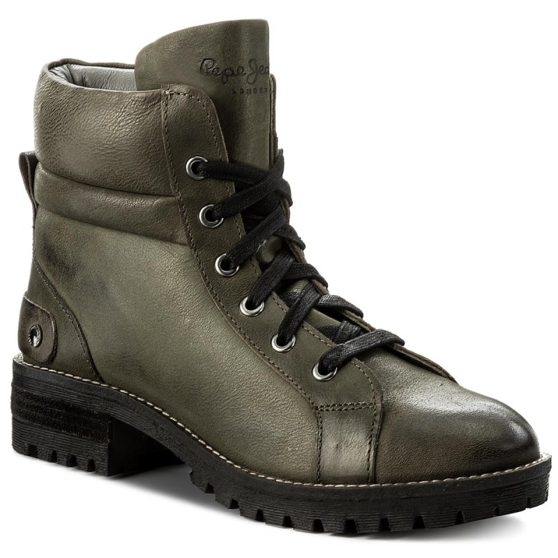 Trapperschuhe PEPE JEANS-Hellen Laces PLS50300 Military Green 679