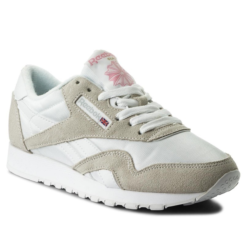 Schuhe Reebok-Cl Nylon 6394 White/Light Grey