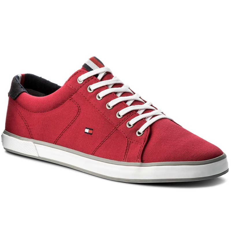 Turnschuhe TOMMY HILFIGER-Iconic Long Lace Sneaker FM0FM01536 Tango Red 611