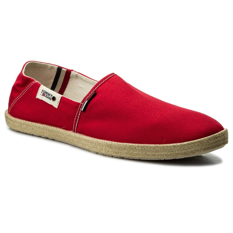 Espadrilles TOMMY JEANS-Summer Slip On Shoe EM0EM00027 Tango Red 611