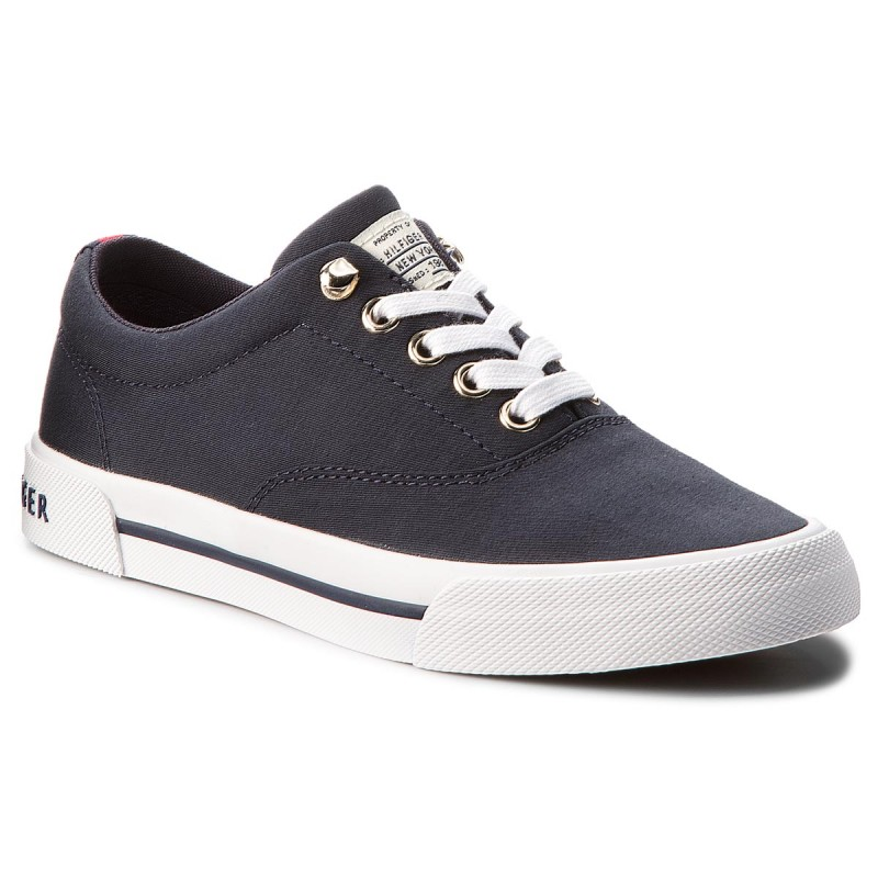 Turnschuhe TOMMY HILFIGER-Heritage Textile Sneaker FW0FW02797 Midnight 403