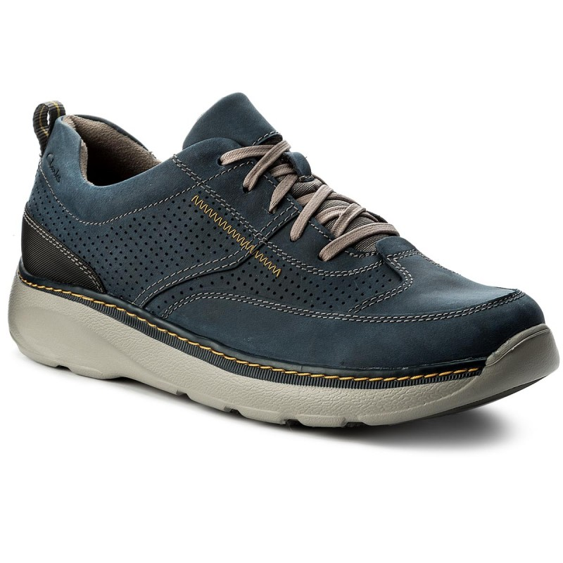 Sneakers CLARKS-Charton Mix 261150027 Navy Leather