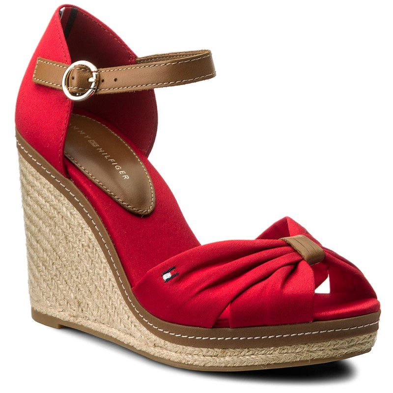 Espadrilles TOMMY HILFIGER-Iconic Elena Sandal FW0FW00905 Tango Red 611