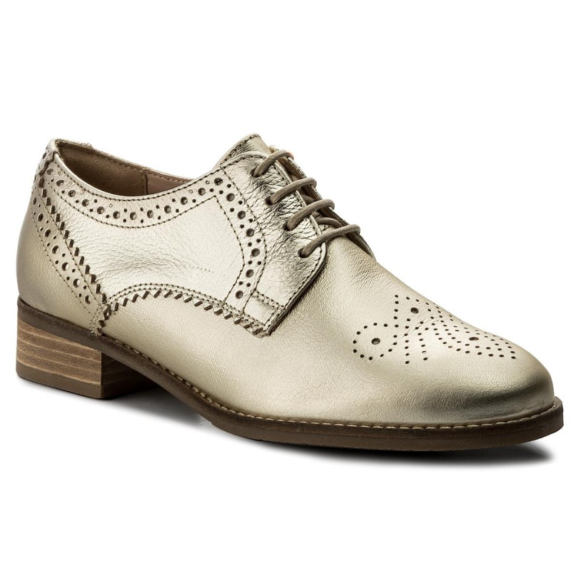 Oxfords CLARKS-Netley Rose 261309384 Champagne Combi