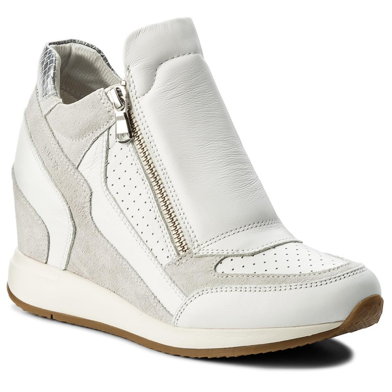 Sneakers GEOX-D Nydame A D620QA 08522 C1352 White/Off White