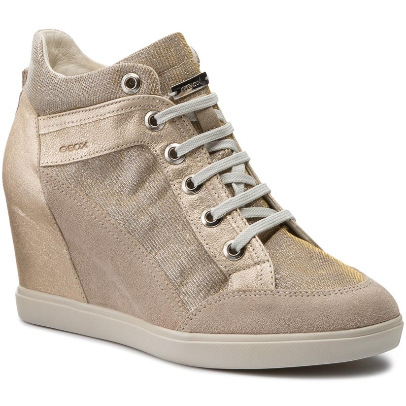 Sneakers GEOX-D Eleni C D7267C 022EW CH69H Lt Taupe/Lead