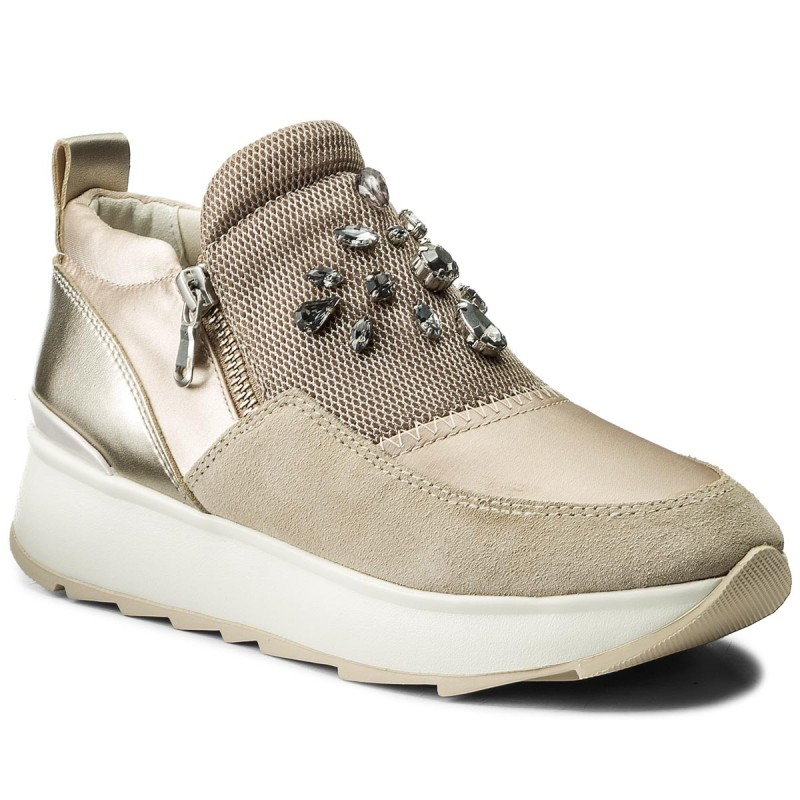 Sneakers GEOX-D Gendry A D745TA 01222 CA5H6 Skin/Lt Taupe