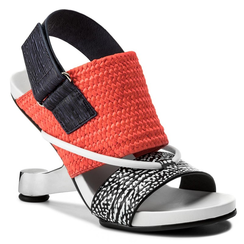 Sandalen UNITED NUDE-Eamz Tribal 1028441646108 Black And White Mix/Neon Red/Navy