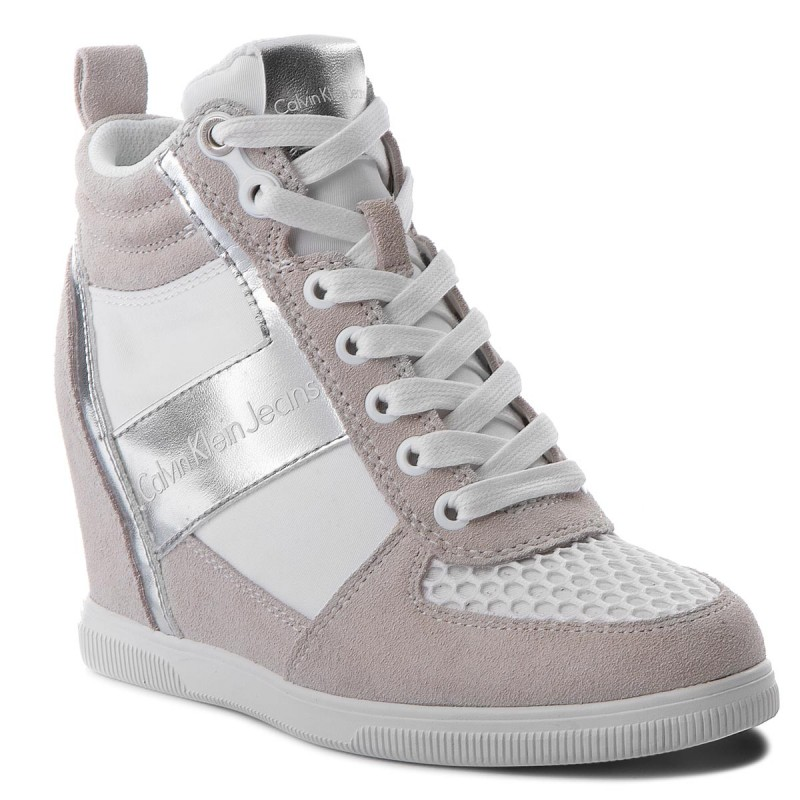 Sneakers CALVIN KLEIN JEANS-Beth R0648 White/Silver