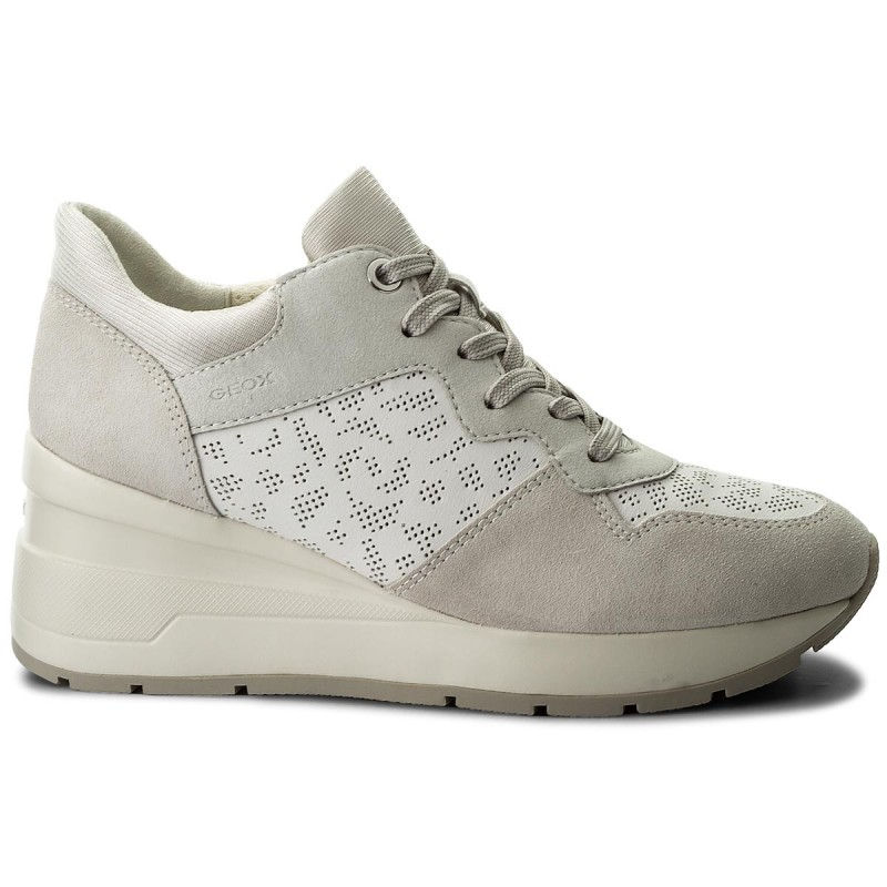 Sneakers GEOX-D Zosma C D828LC 08522 C1352 White/Off White