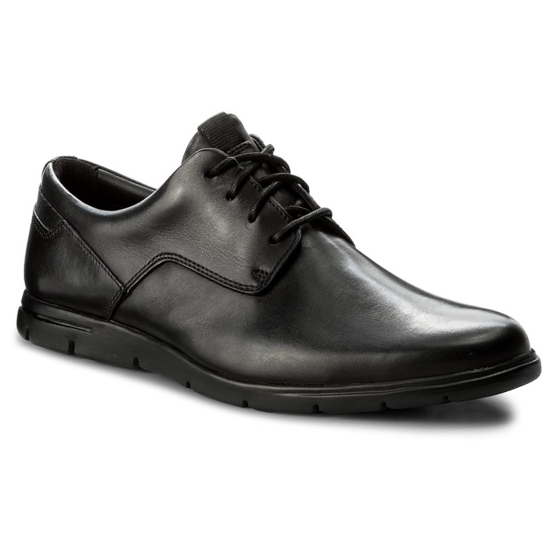 Halbschuhe CLARKS-Vennor Walk 261317487 Black Leather