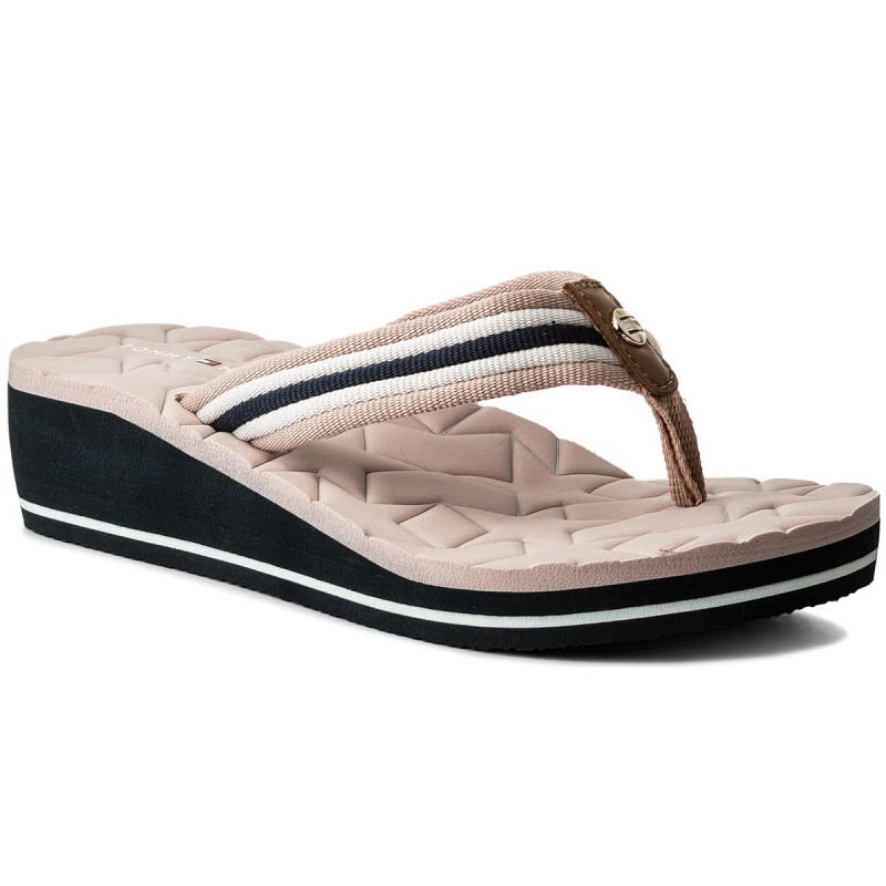 Zehentrenner TOMMY HILFIGER-Comfort Mid Beach Sandal FW0FW02367 Dusty Rose 502