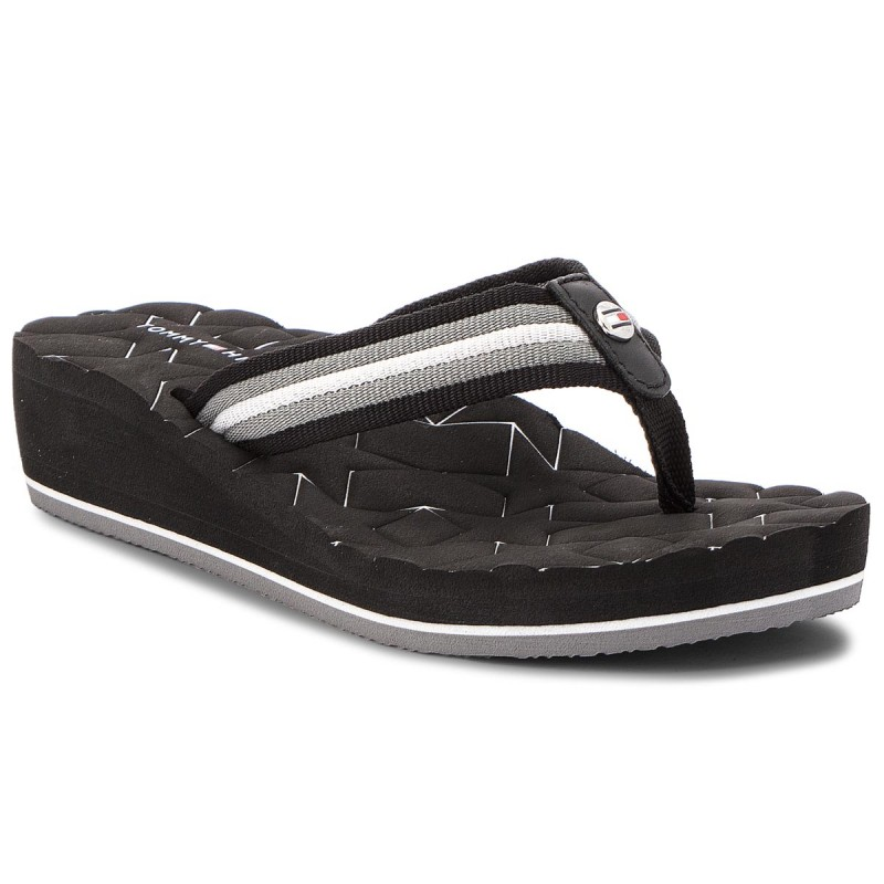 Zehentrenner TOMMY HILFIGER-Comfort Mid Beach Sandal FW0FW02367 Black 990
